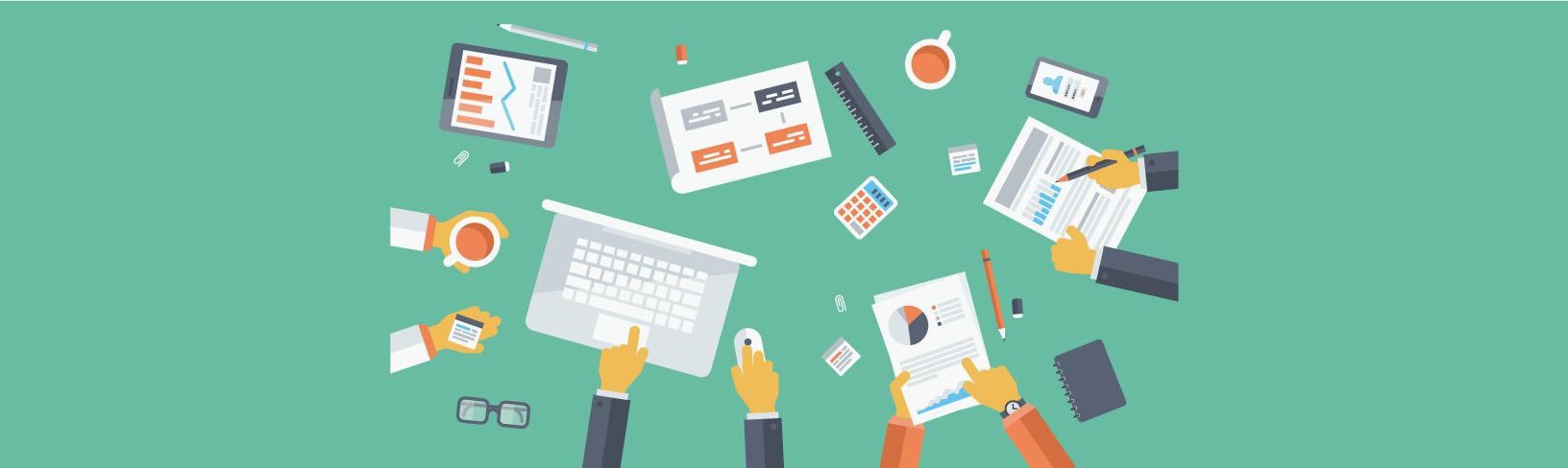 Illustration stratégie de communication digitale
